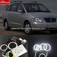 HochiTech Ccfl Angel Eyes Kit White 6000k Ccfl Halo Rings Headlight For SsangYong Rodius 2004 2013