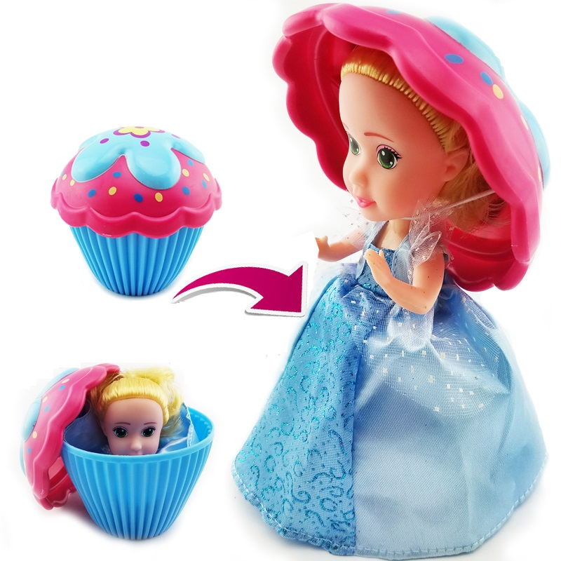 6 Inch Cup Cake Dolls Toys with kinds of Flavor Mini Cake Kid Toy Dolls For Girls Christmas Gift
