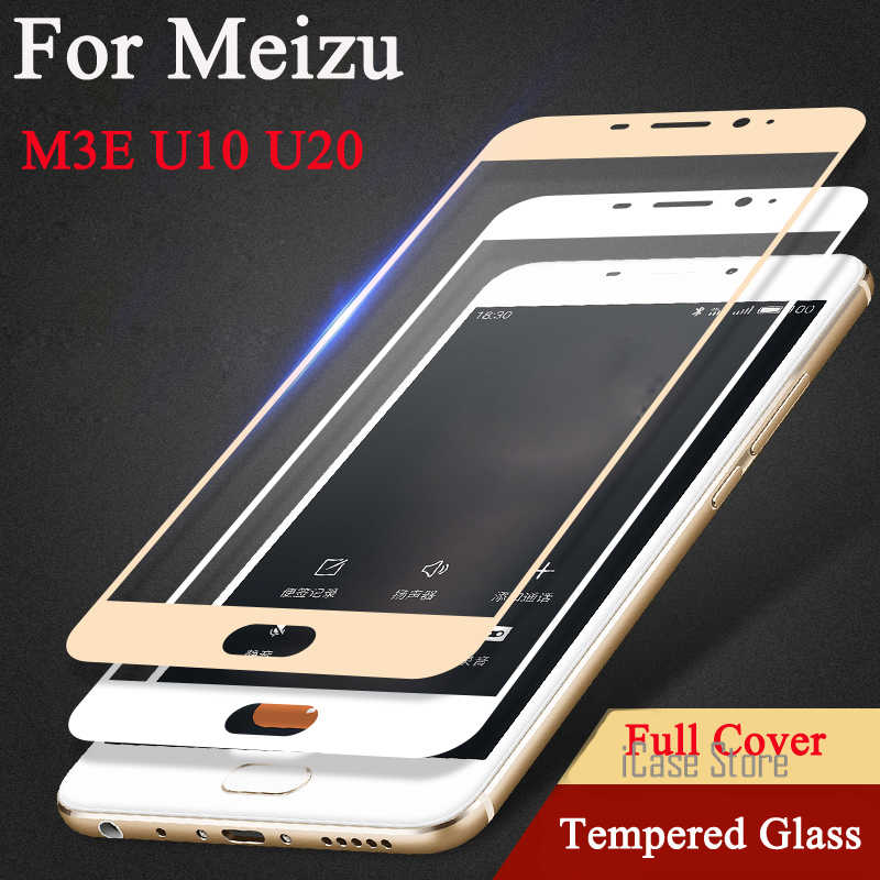 2.5D 9H Colorful Full Cover Tempered Glass For Meizu U10 U20 M3E Meilan E Screen Protector Toughened Explosion Proof Film