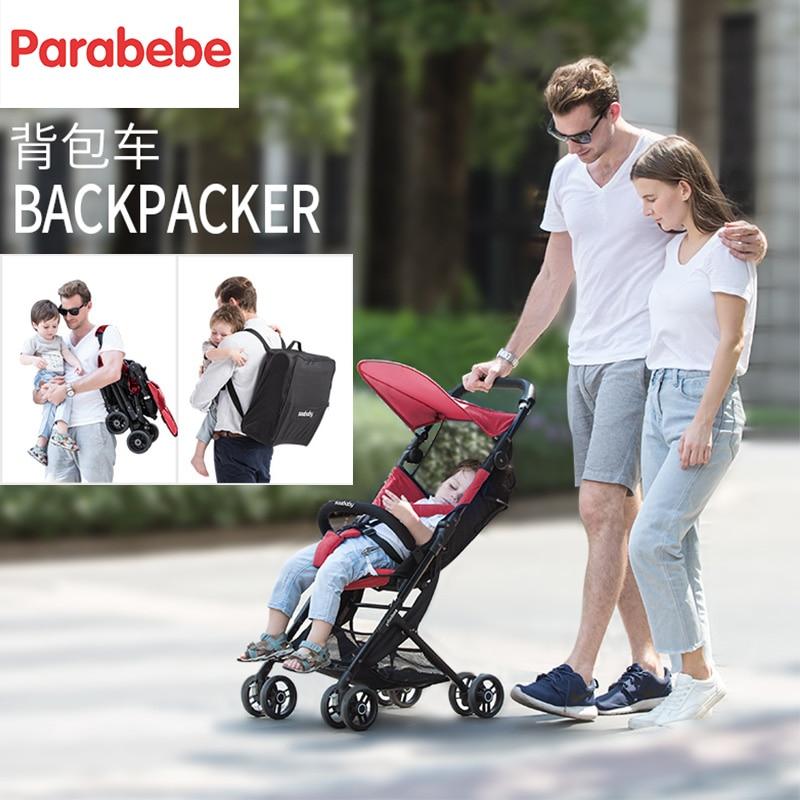 4.8KG Pocket stroller lightweight pushchair pink baby pram travel system light baby stroller folding children infant trolley baby stroller folding rocking horse pushchair infant stroller gold frame