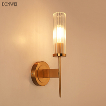 American Glass Wall Lamp Sconce Nordic Indoor Led W