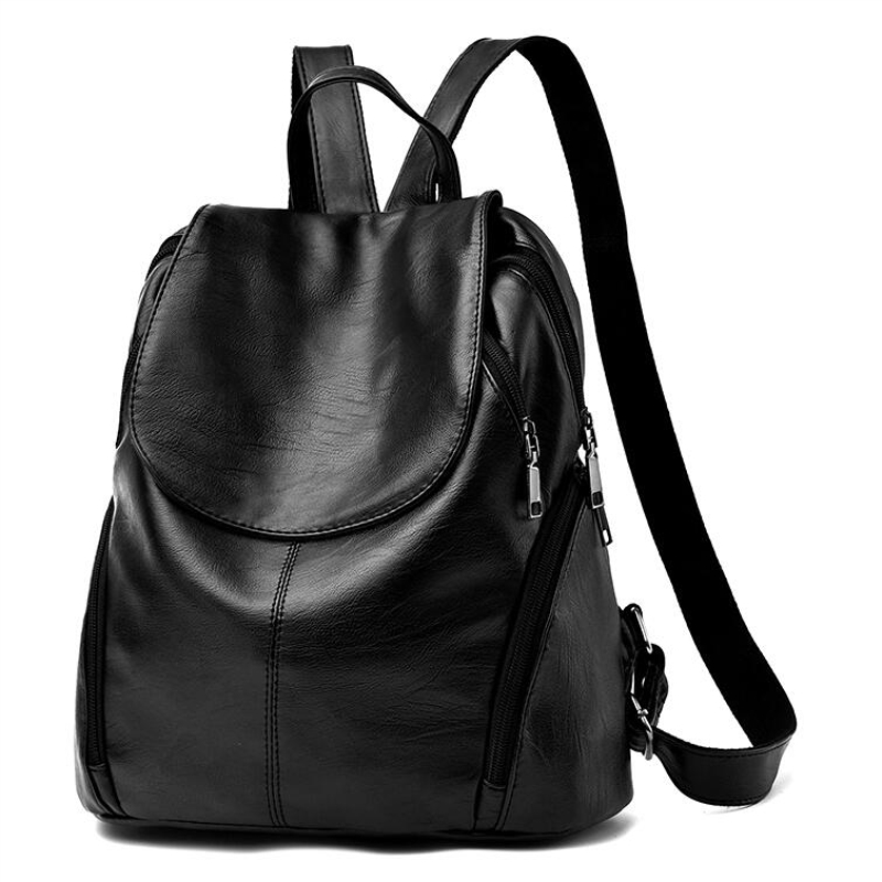 Famous Brand Backpack Women Shoulder Back Pack Vintage Preppy Style Girls School Bags for Girls Black Leather Women Backpack Y55