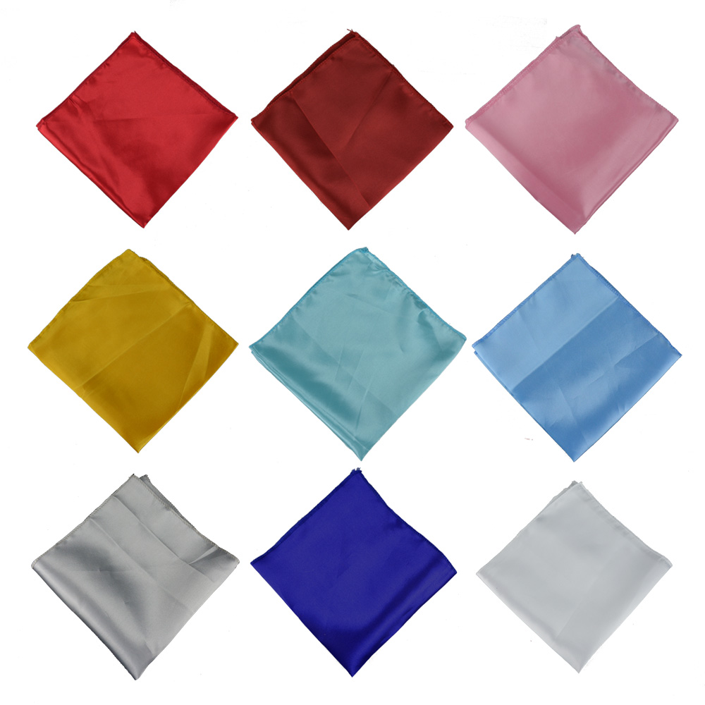 Cheap 50pcs/lot Red/Gold 48*48cm Satin Table Napkin For Wedding Party Decoration Hotel Dining Table 19 Square Folding Cloth image
