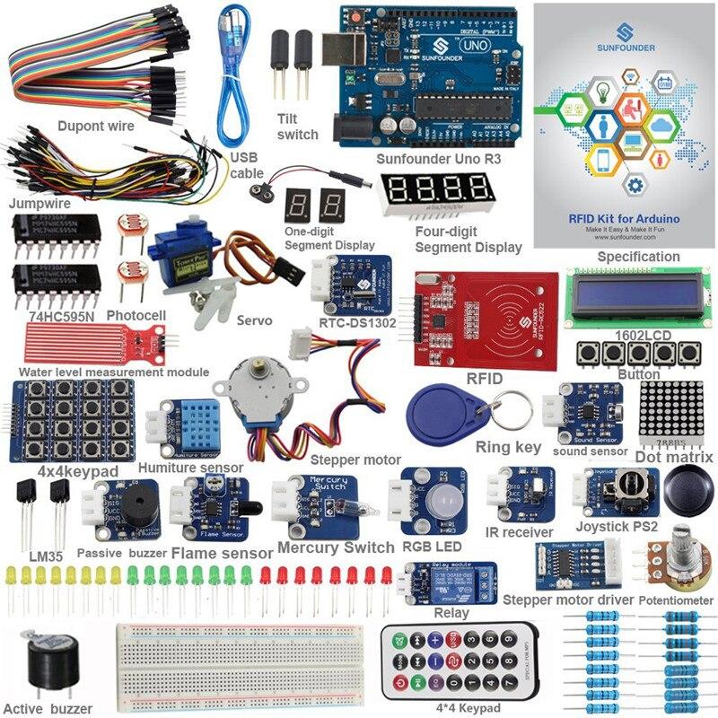 Kit de démarrage RFID pour Arduino Uno R3 Mega Nano circuits imprimés capteurs de fils V2.0