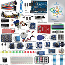 Arduino uno r3 메가 나노 회로 기판 점퍼 와이어 센서 v2.0 용 sunfounder rfid 스타터 키트
