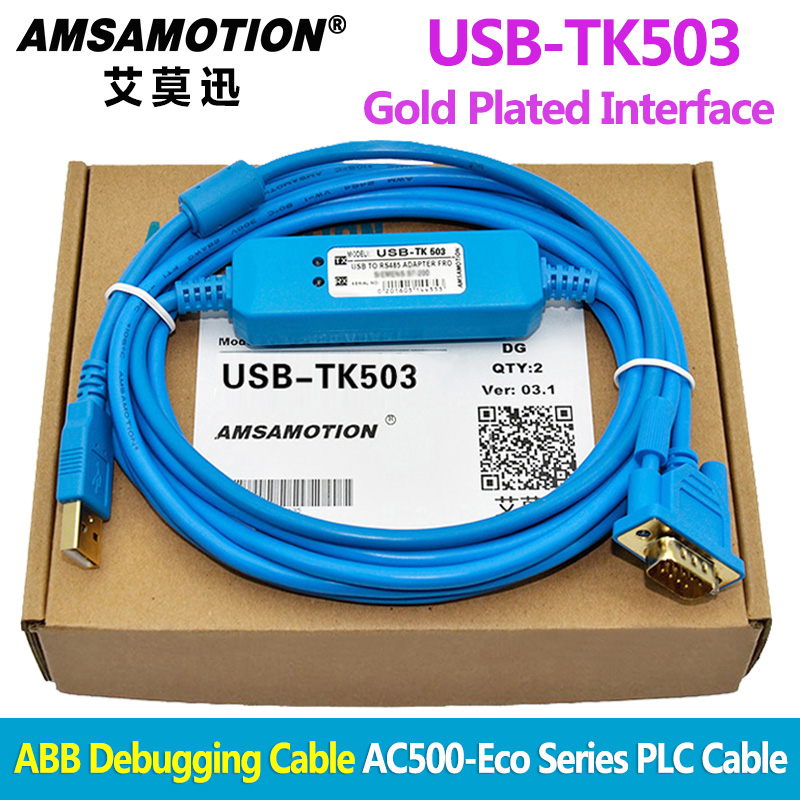USB-TK503 For ABB Debugging Cable AC500-Eco Series PLC Programming Cable  Download Line TK503 PM571 PM581 PM591 PM592