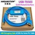 USB-TK503 para ABB Cable de depuración serie AC500-Eco Cable de programación PLC línea de descarga TK503 PM571 PM581 PM591 PM592