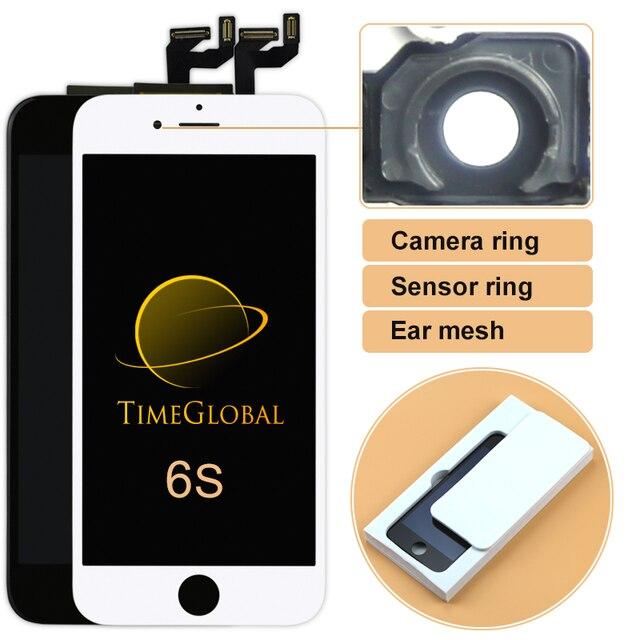"""1 unids de calidad aaa para el iphone 6 s lcd reemplazo de la pantalla negro/blanco táctil digitalizador asamblea no dead pixel 4.7 """"pantalla"""