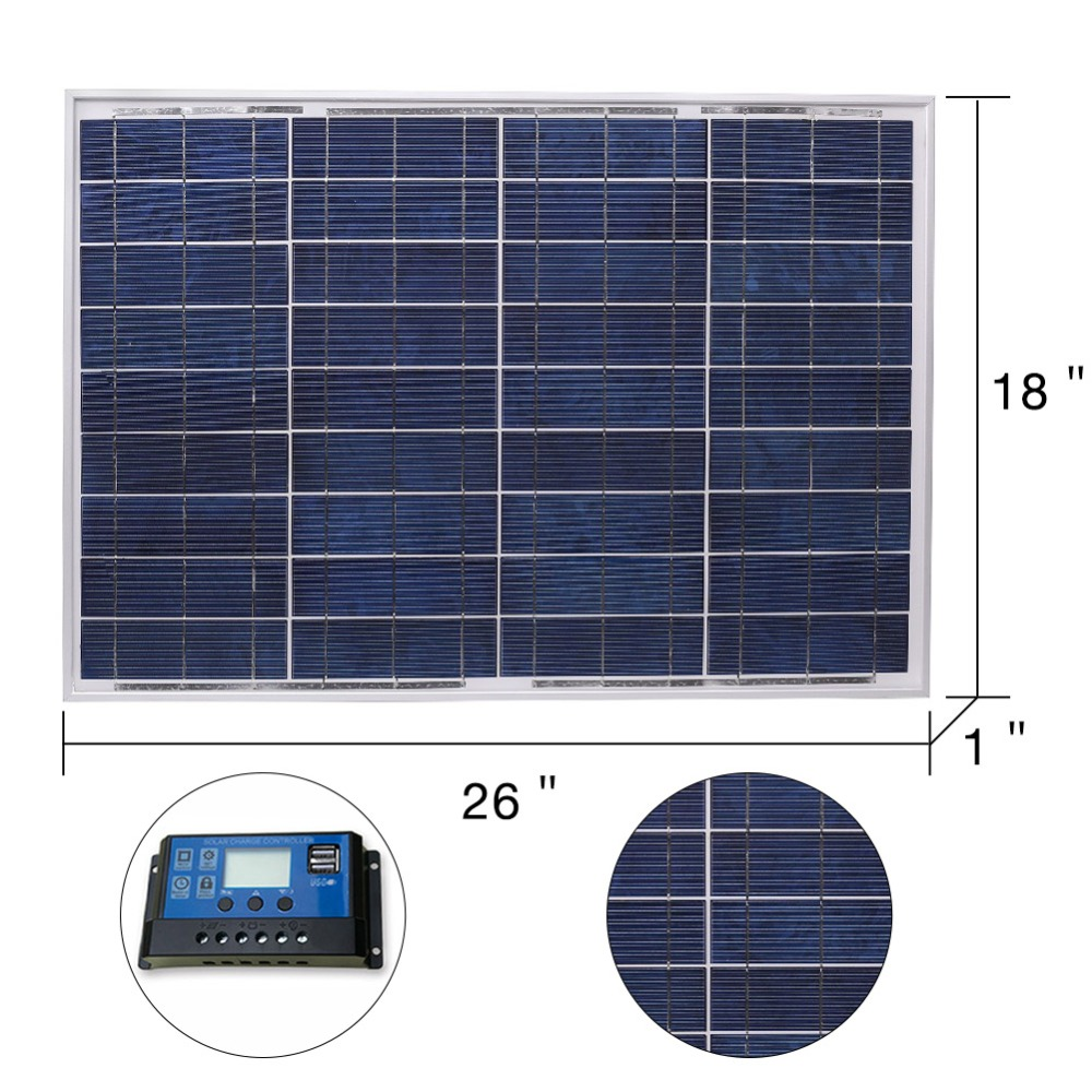 Image 2 - Anaka 12V 40W Solar Panel China Small Solar Battery Polycrystalline Silicon Paneles Solares Sets Kits Waterproof Outdoor Panels-in Solar Cells from Consumer Electronics