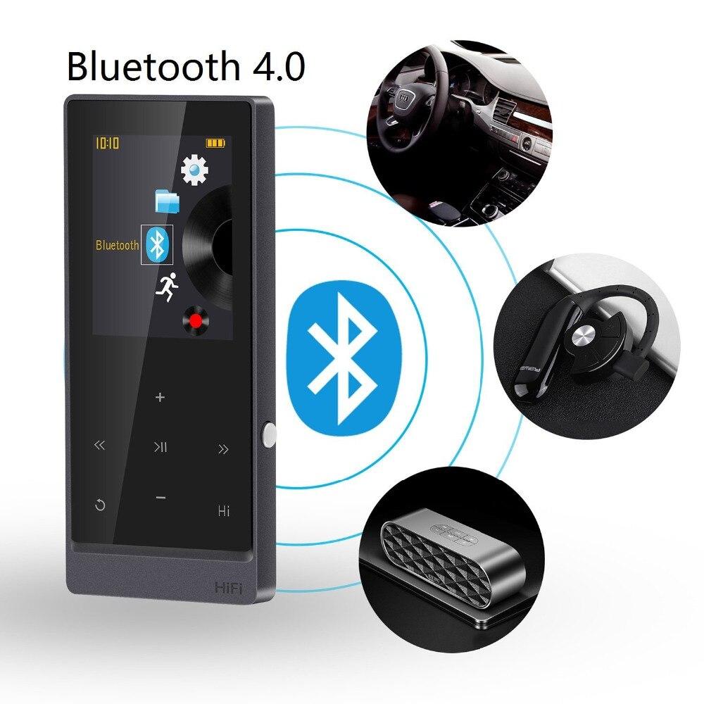 MP3 плеер Bluetooth с 8 ГБ беспроводного воспроизведения музыки аудио Media FM Сенсорный экран металлический корпус