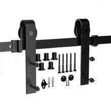 Dla rosyjskich drzwi przesuwnych Barn Track Hardware drewniane drzwi do stodoły Rail Hardware zestaw drzwi przesuwnych zestaw drzwi do stodoły System Slide Kit