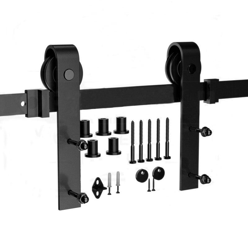 Pour porte coulissante russe matériel de voie de grange matériel de Rail de porte de grange en bois matériel de Rail de porte coulissante Kit de glissière de système de porte de grange