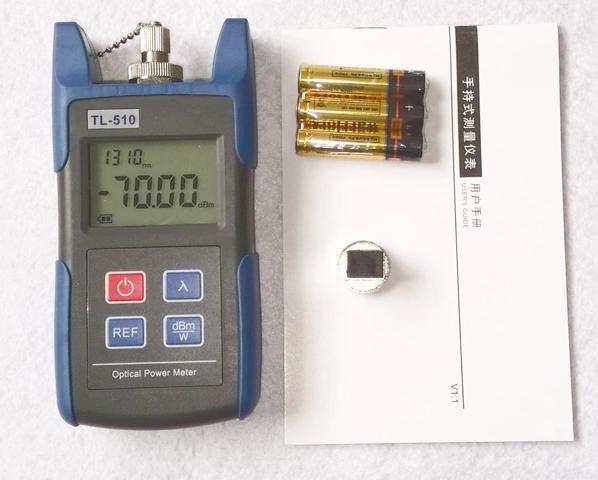 FTTH Mini medidor de potencia óptica de fibra TL510 TL510C probador de Cable óptico de fibra-50dBm ~ + 26dBm FC SC conector ST