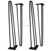Free Shipping 34 Tall X 1 2 Metal Hairpin Table Legs Set Of 4 Mid Century
