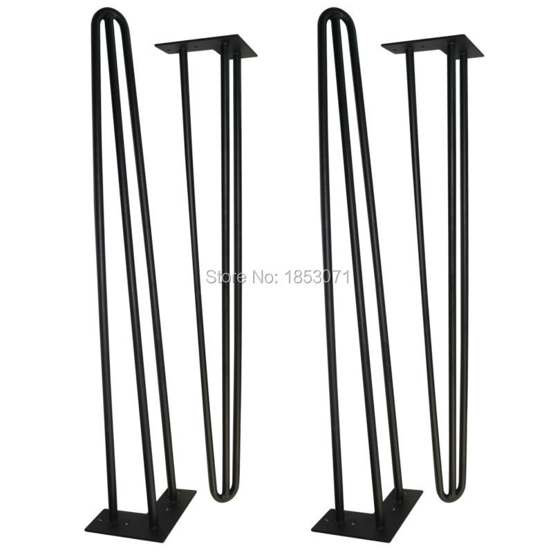 34 Tall x 1/2 ,Metal Hairpin Table Legs, set of 4,Mid Century Modern Industrial table,Classical Black Furniture legs 30cm black silver metal hairpin table legs 2 rod set of 4 mid century modern furniture for diy cabinet and table legs