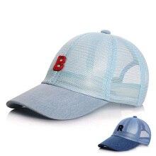 Fashion Summer Baby Hat for Boys Mesh Denim Baby Cap Adjustable Children Baseball Cap for Girls Kids Sun Hats for 1-5 Years