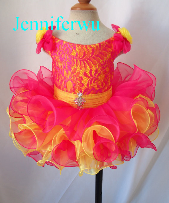 flower girl lace dress  baby girl pageant  dress  girl brand clothes  G130-4
