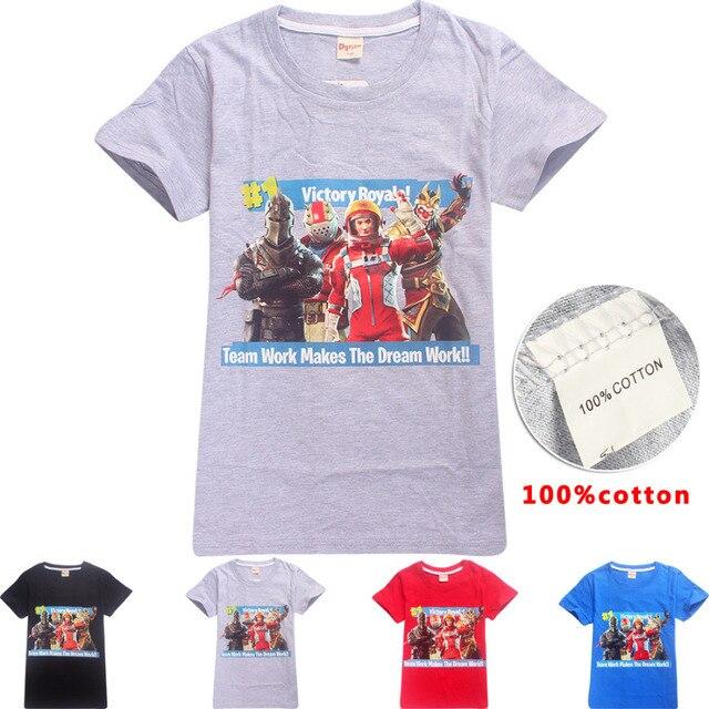 c22706a8c71a Lato top ubrania dla dzieci chłopcy tshirt krótki rękaw koszulka camiseta  cartoon dziewczyny topy battle royale
