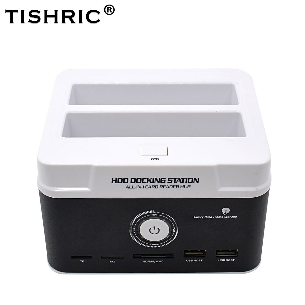 TISHRIC Hard Disk Drive Hdd Card Reader External All In One <font><b>Hd</b></font> Dock Docking Station USB Dual IDE SATA Box 2.5 <font><b>3.5</b></font> Enclosure Case image