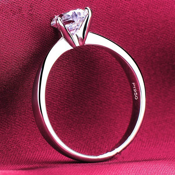 1CT White Gold 14Karat Heart Style Authentic Synthetic Diamonds