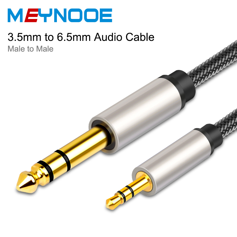 Jack 3.5mm to 6.35mm Aux Audio Cable Jack Adapter Speaker Subwoofer Auxiliary Cable Gold plated 3.5mm to 6.5 for Mixer Amplifier