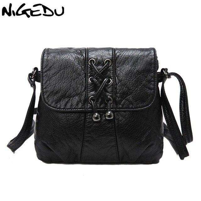 cfd48f0a2ac3 Nigedu мягкая кожа Для женщин сумка Повседневная Тканые кисти Для женщин  сумка через плечо сумка женская