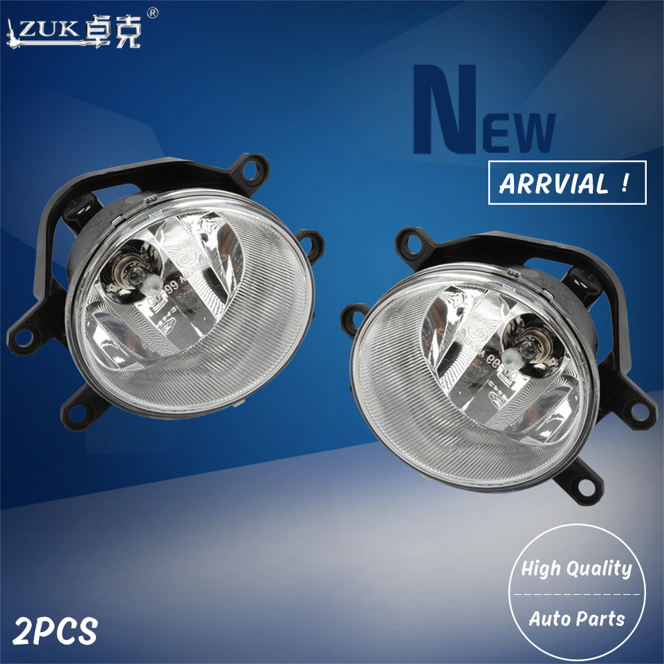 ZUK 2PCS Front Fog Light Lamp Foglight For LAND CRUISER PRADO PREVIA PRIUS Wish Vitz Aqua