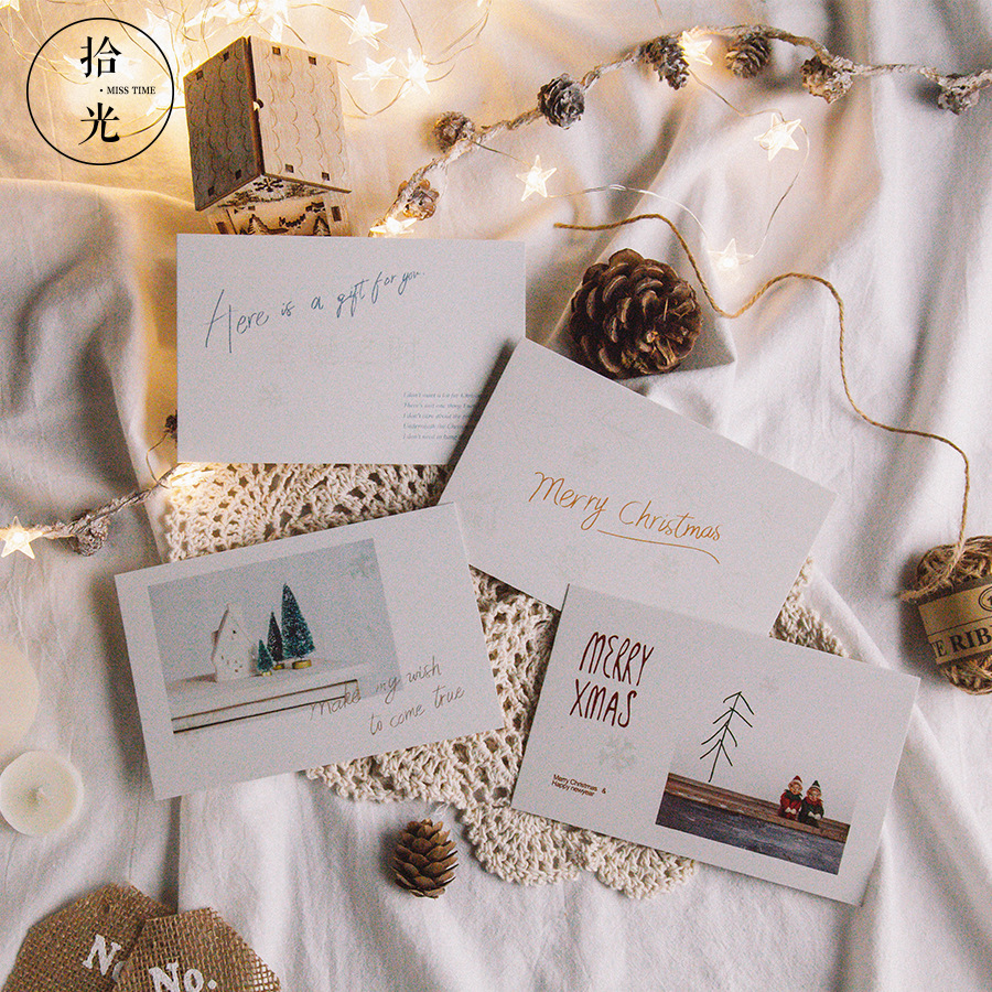 30 Sheets/Set 2019 New Merry Christmas Time Luminous Postcard/Greeting Card/Wish Card Message Card