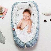 Съемный манеж для детской кроватки, кровать-гнездо для новорожденного, люлька из хлопка, детская кроватка для путешествий, 90x55 см