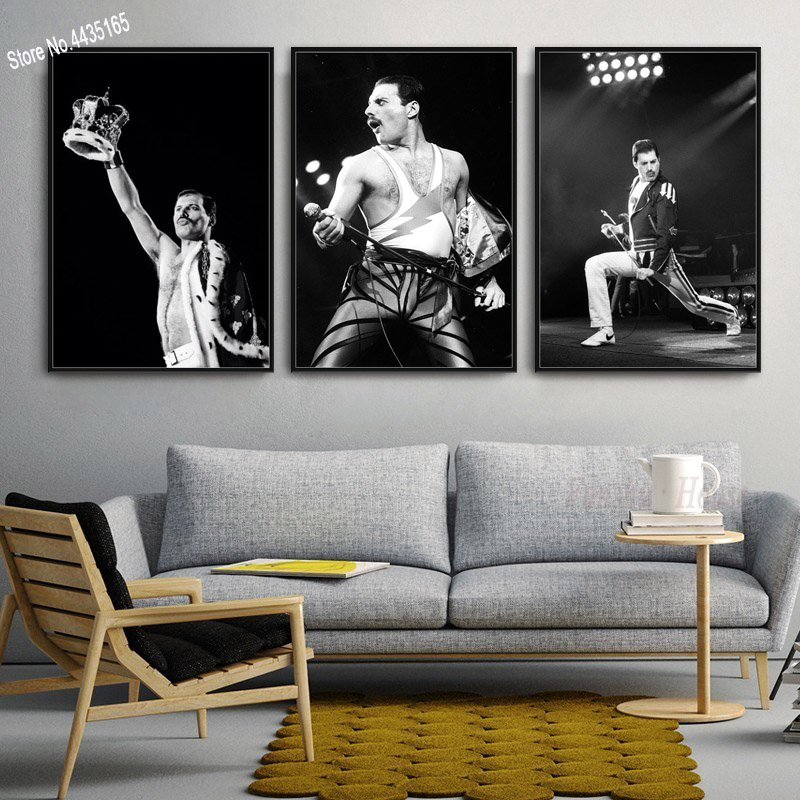 New Freddie Mercury Musician Poster Bohemian Rhapsody Wall Art Picture Prints Canvas Painting For Living Room Home Decoration
