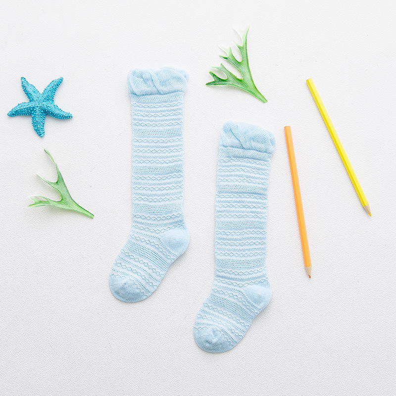 Candy Color Lace Baby Girls Knee High Socks 2018 New Arrivals Childrens Socks Mesh Long Cotton Kids