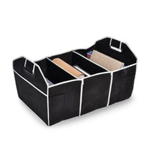 Negro Coche Plegable Caja De Almacenamiento de Contenedores Plegables Reserva Bolsas Organizador De Juguetes Libro de Comida Estilo Estiba de Carga