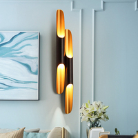 Modern Replica Delightfull Coltrane Wall Lamp Black Gold Inclined Wall Light up down aluminum pipe wing 2 lights bedroom light