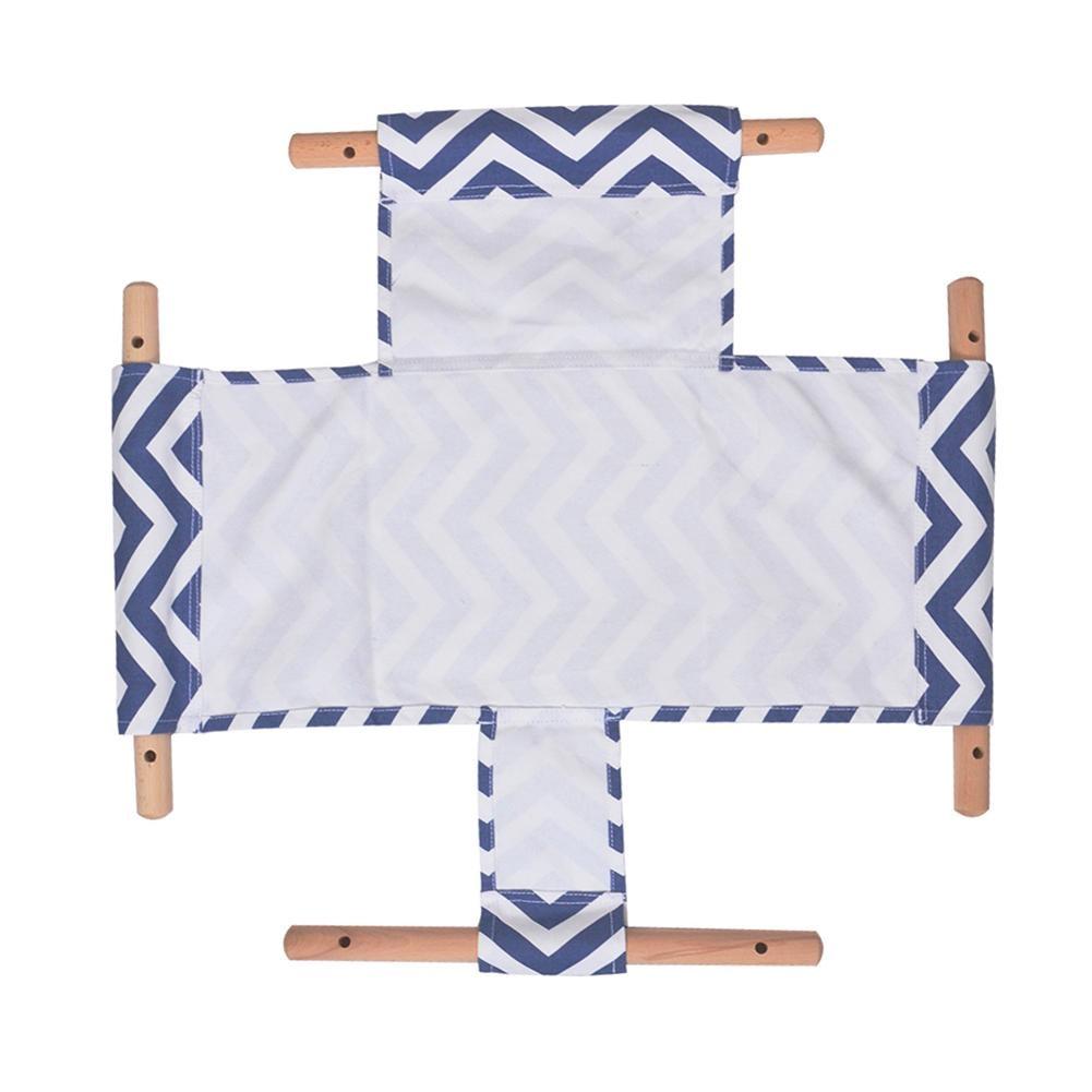 Jouet d'extérieur enfants maternelle bébé toile balançoire chaise suspendue en bois intérieur petit panier oscillant chaise à bascule avec coussin - 3