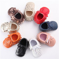 2016 New PU Newborn Baby Boy Girl Double Fringe Lace-up First Walkers Infant Toddler Crib Baby Moccasins Soft Moccs Shoes