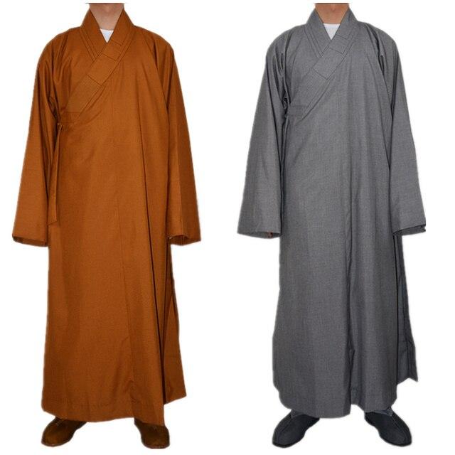 Buddhism Monk Robes Cotton Polyester Kung Fu Customes Meditation Lay ...