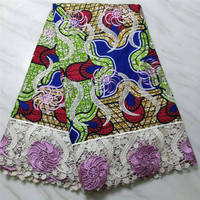 African Ankara 2019 High Quality Wax Lace Fabric for Women Wedding Dress Prints Style Nigeria Guipure Lace Cotton lace