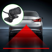цена на Car Anti-collision Laser Fog Light Auto Anti-fog Parking Stop Braking Signal Indicators Motorcycle LED Warning Light Car-Styling