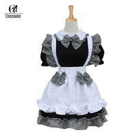 ROLECOS Classical Lolita Princess Maid Dress with Bowknot Apron Maid Cosplay Costume Dress for Women