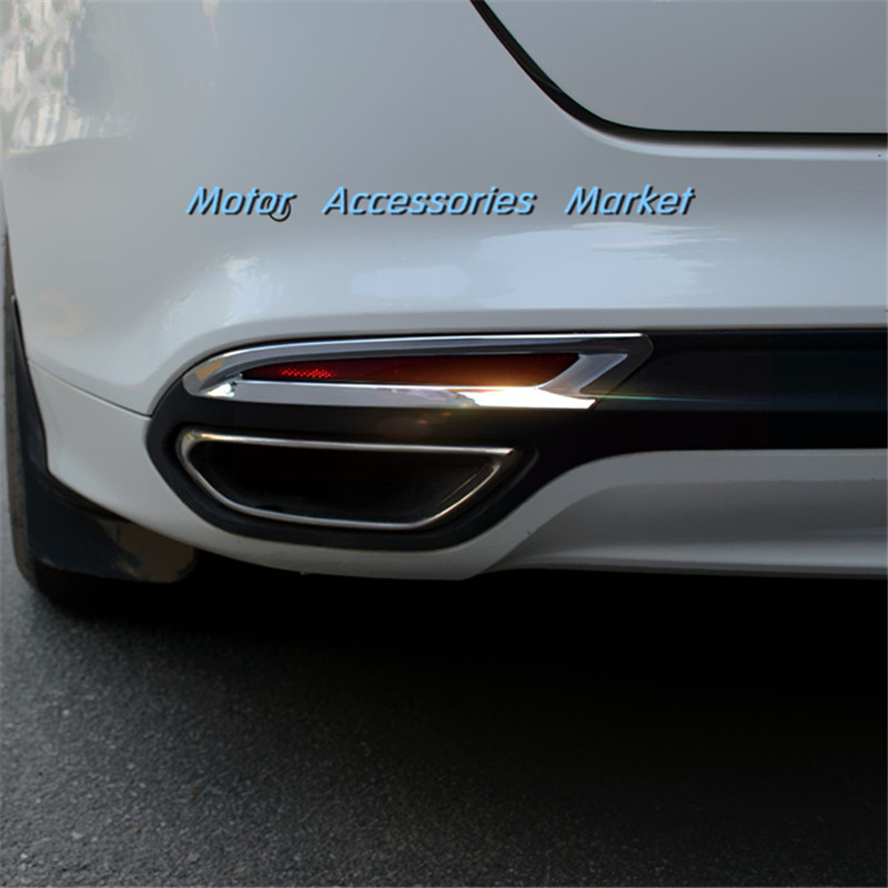 New Chrome Trim Front Fog Light Cover For Ford Fusion Mondeo 2013 2014 2015 2016