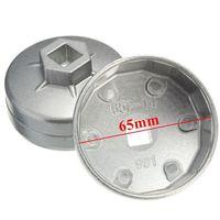 2 Stks/partij _ 65mm 14 Fluit Aluminium Cap Oliefiltersleutel Socket Remover Tool Voor Auto