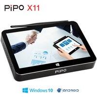 Pipo X11 мини ПК Intel Cherry Trail Z8350 2 ГБ/32 ГБ Smart ТВ Box Android Windows 10 OS 8,9 дюймов 1920*1200 P Сенсорный экран планшета