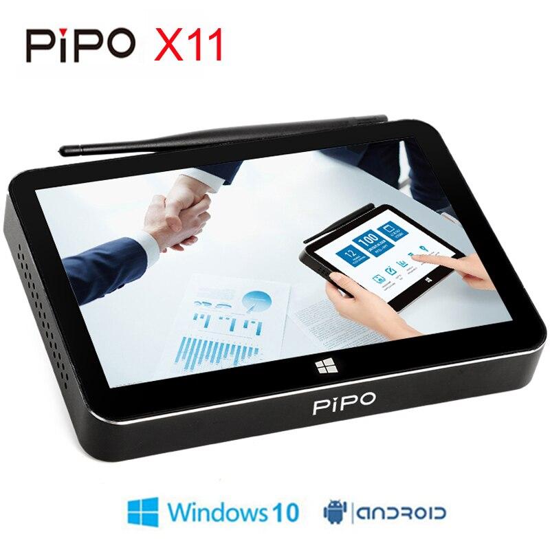PIPO X11 Mini PC Intel Cherry Trail Z8350 2 gb/32 gb Boîte de TÉLÉVISION Intelligente Android OS Windows 10 8.9 pouce 1920*1200 p Écran Tactile Tablette