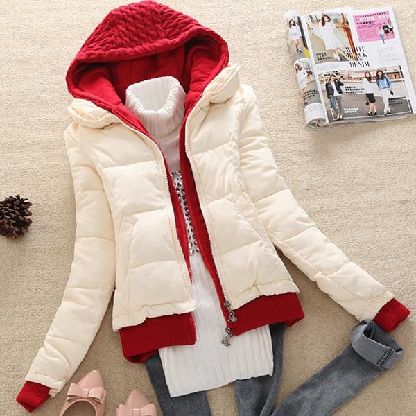 Novo 2016 casaco de inverno mulheres engrosse wadded jaqueta short slim com capuz mulheres parka jaquetas casuais D012