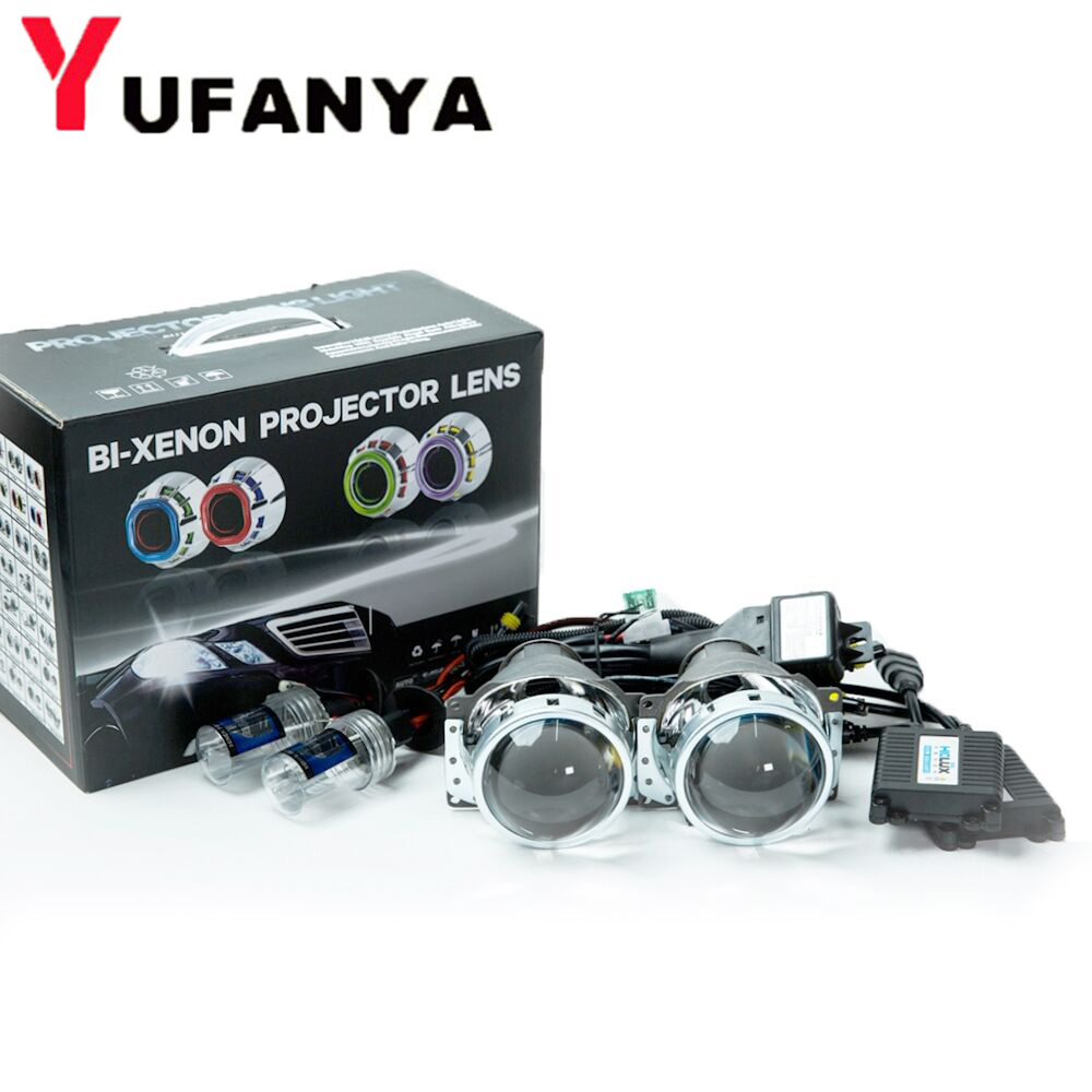 3 inch H7Q5 car styling bi xenon Projector Lens with xenon kit for h7 xenon bulb hid retrofit free shipping серьги