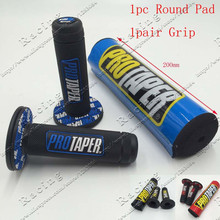 Free Shipping MX Dirt bike For Pro CRF IRBIS Bar Protector Cross Handlebar Round Pad & For Pro Tape Handle Colorful Grip Grips
