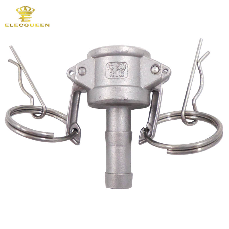 1/2 Type C Stainless 316 Coupler Camlock Fitting Stainless Steel Hose Tail Barb SS Fitting Cam and Groove Coupler
