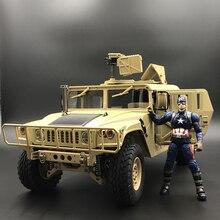 U. S.4X4MILITARY Xe M1025 Humvee 1/10 Rc Kim Loại Khung Xe Ngoài Đường Xe Ô Tô HG P408 Nâng Cấp Đèn Âm Thanh Chức Năng
