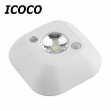 2017 Popular New Mini Wireless Infrared Motion Sensor Ceiling Night Light Battery Powered Porch Lamp Energy Saving Night Light