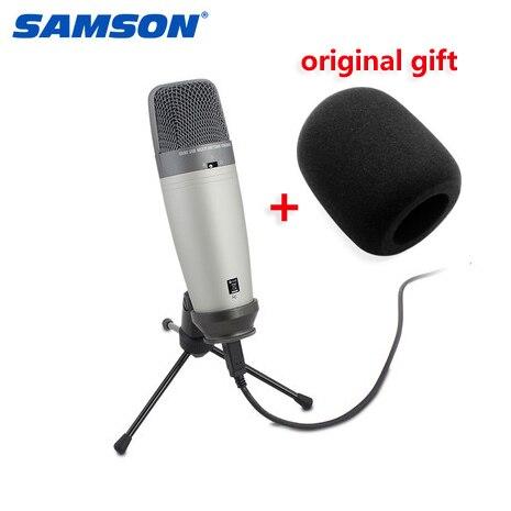 Original Samson C03U Samson windsceen sponge Multi Pattern USB Studio Condenser microphone Large diaphragm recording mic